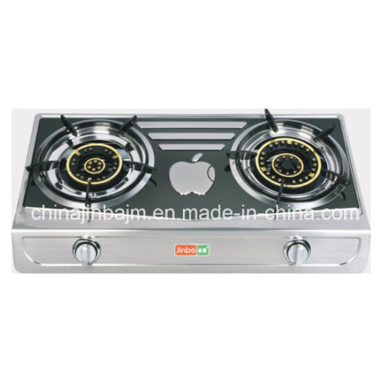 2 Burner Apple Pattern Table Top Gas Stove