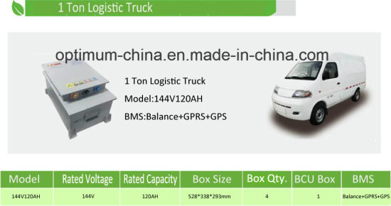 144V 120ah Lithium Ion Electric 1 Ton Logistic Truck Battery Pack pictures & photos