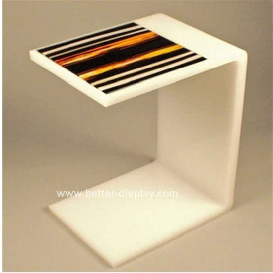 Acrylic White Coffee Table (BTR-Q1022)