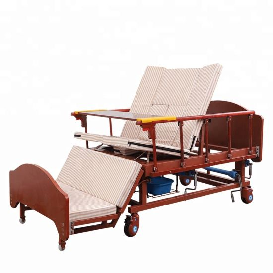 Latest Designs Three Cranks Square Tube Medical Bed for Pakistan