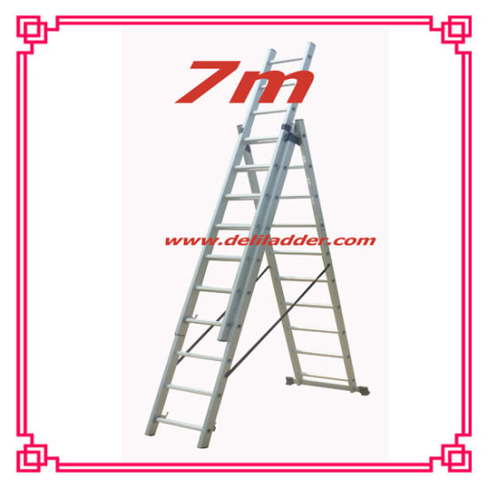 3 Section Extension Ladder / Aluminum Combination Step Ladder pictures & photos