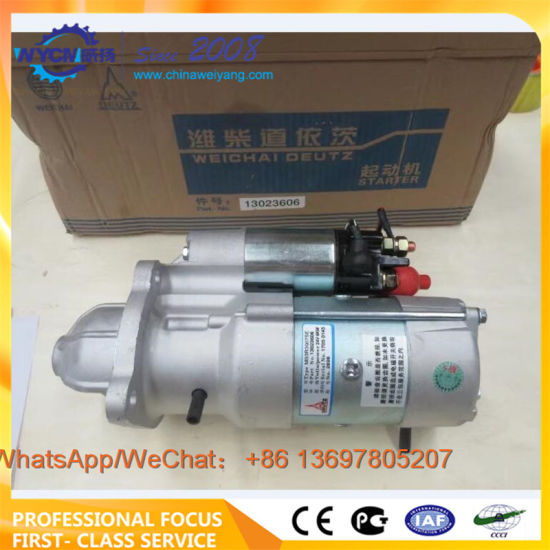 Weichai Deutz Engine Starter 13023606 for Wheel Loader Spare Parts