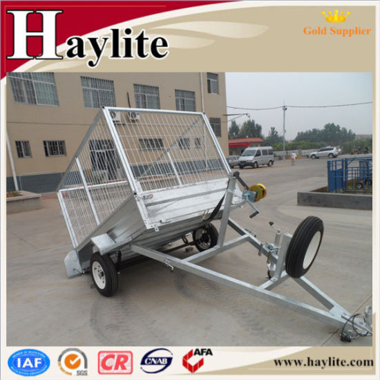 Hot DIP Galvanized Box Trailer Utility Trailer with Jockey Wheel pictures & photos