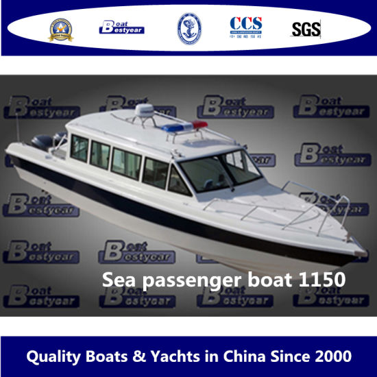 Bestyear 11.6m Fiberglass Colorful Sea Passenger Boat for 23 People Outboard or Sterndrive Engine pictures & photos