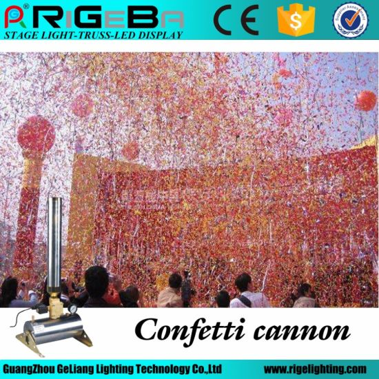 150W 10 Meters Remote Paper Wedding Stage CO2 Confetti Cannons, Confetti Machine pictures & photos