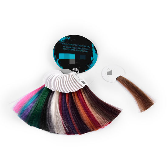 Synthetic Hair Color Swatch Ring /Human Hair Color Chart pictures & photos
