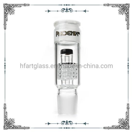 High Quality 18inch 7mm Beaker Glass Bong Water Pipe matrix percolators With Ash