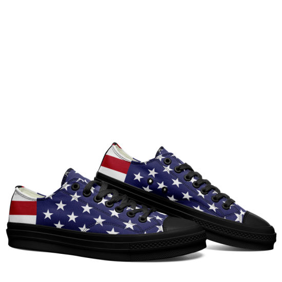 American Flag Unisex Canvas Sneakers High Top Fashion Lace up Casual Walking Shoes