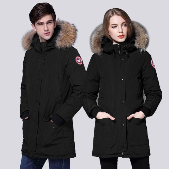 Winter Men Women Outdoor Stylish/Trendy Best Black/Red/Green Long Lightweight/Windproof/Winderbreaker Grey Duck Down Puffer Jacket with Hood