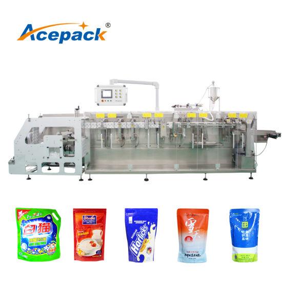 Horizontal Doypack Pouch Packing Machine for Seasoning Powder, Herbal Product, Pharmaceutical Ziplock Bag Packaging Machine