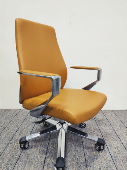 Office Visitor Chair PU Leather Conference Office Chair-6129b (BIFMA)
