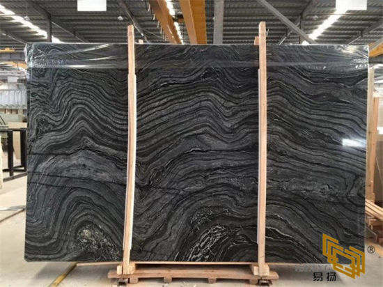 Ancient Wood Grain Black Marble for Flooring/Wall/Kitchen/Bathroom/Countertop/Tile