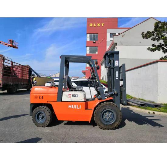 Diesel Forklift 5000kg 3000kg 3000mm 5000mm 6000mm Four Wheel Forklift Truck