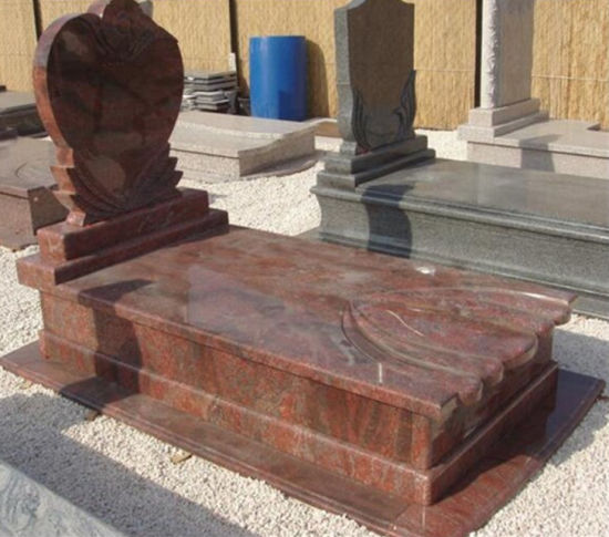 Black/Grey/Red/Blue/Green/Purple/White Granite/Marble/Memorial/Cemetery/Garden Gravestone with Angel (European/American/Chinese/Japanese/Russian Stytle) pictures & photos