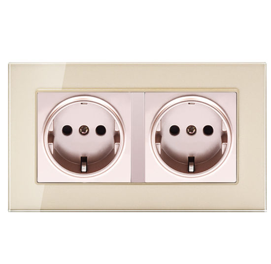 Szadp Hot Sales EU Standard Double Wall Power Socket Outlets
