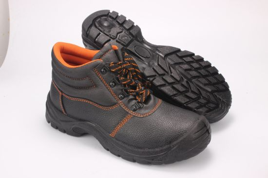 Ce Certificate Embossed Leather Basic Style Safety Shoes/Safety Footwear/Work Shoes/Work Boots Sn1206