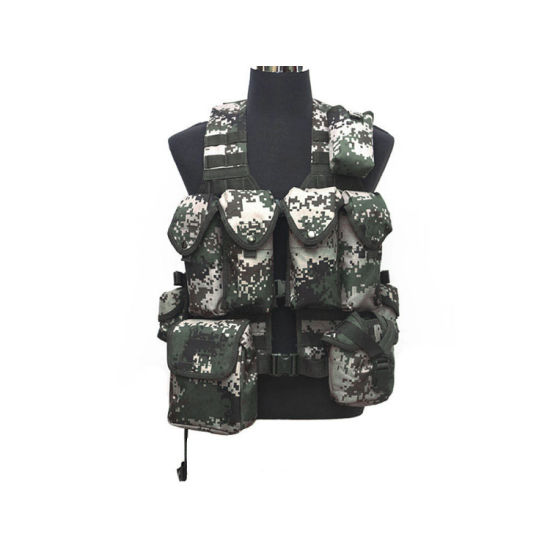 Camouflage Hunting Military Tactical Vest Wargame Body Molle Armor CS Outdoor Jungle Vest