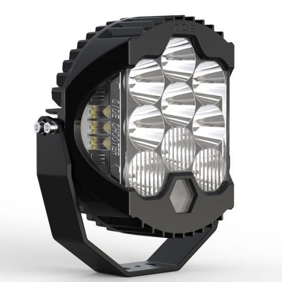 "4X4 LED Offroad Driving Light 9 Inch 150W Car Truck SUV Jeep Side Shooter LED off Road Driving Light 9"" Auto LED Light Comparable Laser LED Driving Light Bar"