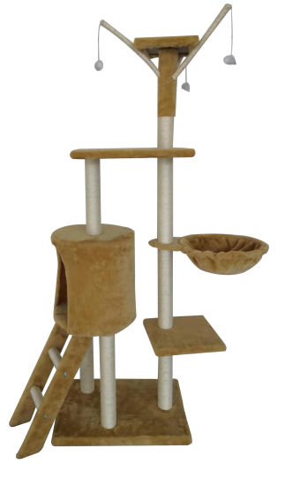 Cat Jumping Toy with Ladder Scratching Wood Climbing Cat Tree pictures & photos