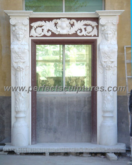 Stone Marble Granite Arch Door Surround for Doorway Archway (DR029) pictures & photos