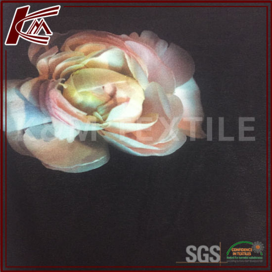 Sand Washed Cdc Fabric Digital Printed Silk Crepe Fabric for Sacrf Dress