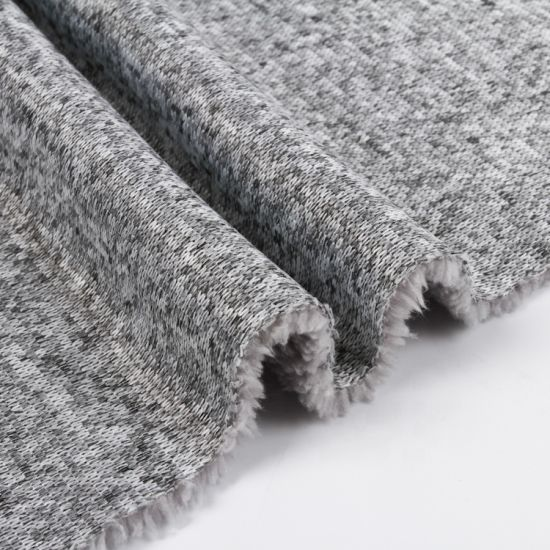 Polyester Bird Eye Mesh Fabric Bonded Polar Fleece Fabric for Garments