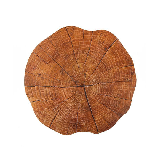 Round PP Wood Grain Cheap Price Decorative Placemat for Home Decoration
