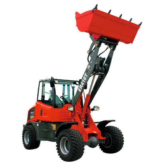 Everun Er416t 1.6ton Small Front End Shovel Loader Mini Compact Articulated 4 Wheel Bucket Loader for Sale