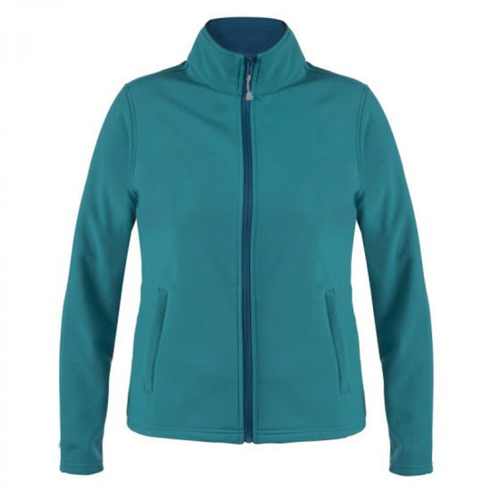2016 OEM Women Softshell Jacket with Two Zippered Pockets