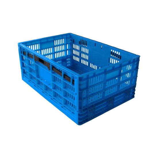 Vegetables 590*395*245 mm 100% Virgin Material Plastic Folding Crate