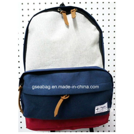 8a0a8863d6 Fashion School Backpack with Cotton Fabric Sports Travel Business Backpack  Promotional Casual Bag ( 20020)