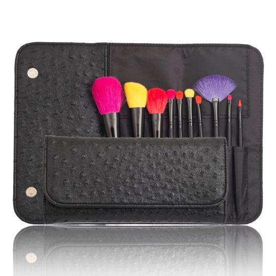 Professional 10PCS Cosmetic Makeup Brush Set Tool with PU Pouch pictures & photos