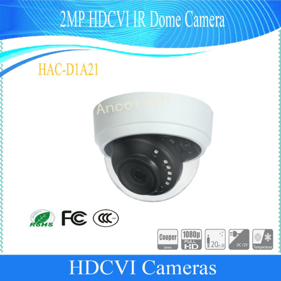 Dahua 2MP Hdcvi IR Digital Video CCTV Dome Camera (HAC-D1A21)