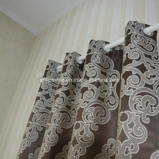 2018 Polyester Embroidery Like Window Curtain Fabric pictures & photos