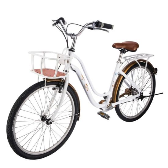 Tdjdc Flower Whisper 1 26u2032u203217u2032u2032 6061 Aluminium Alloy Thicken And Seamless  Frame Hi Ten Fork High Precision Shaft Drive Commuting Bike With 3 Speed ...