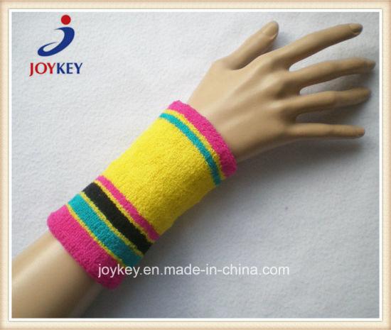 Custom High Quality Terry Cotton Wristband