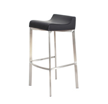 Stainless Steel Frame 4 Leg Low Back Bistro Stool pictures & photos