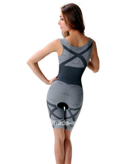 Natural Bamboo Charcoal Slimming Body Shaper, Bamboo Bodysuit pictures & photos