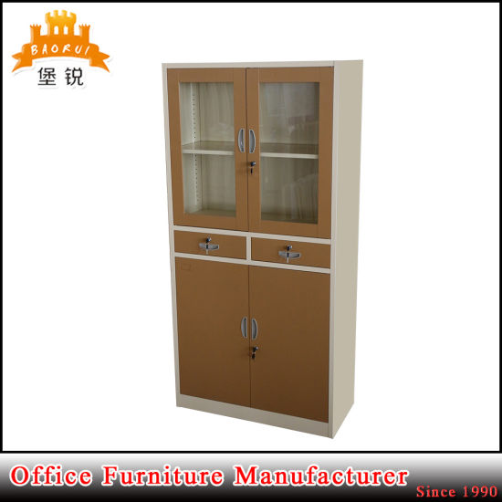 China Office Furniture Glass Door Filing Cabinet With 2 Drawer