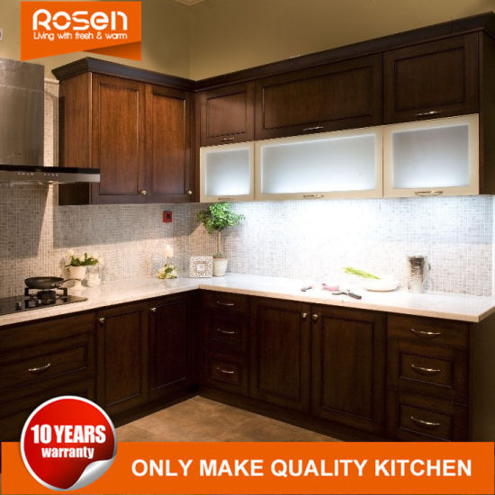 Modern Walnut Solid Wood Shaker Style Kitchen Cabinets Furniture China Mdf Furniture Home Furniture Made In China Com