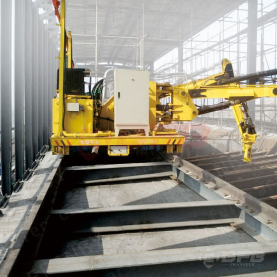 Industry Engineering Motorized Rail Transfer Trolley on Cement Production Line pictures & photos