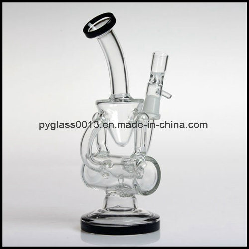 Beautiful Design 7mm Thickness Glass Water Pipe