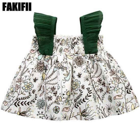 OEM/ODM Manufactring Woven Garment Summer Baby Girl Cute Floral Dress Casual Beach Wear pictures & photos