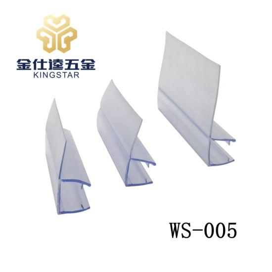WS 005 Bathroom/Shower Glass PVC Waterproof/weather Strip/seal