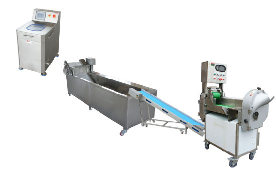 Vegetable Dicing Washing Dewatering Machine System