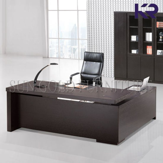Wooden Office Table Design Boss Desk With Side Sz Od352