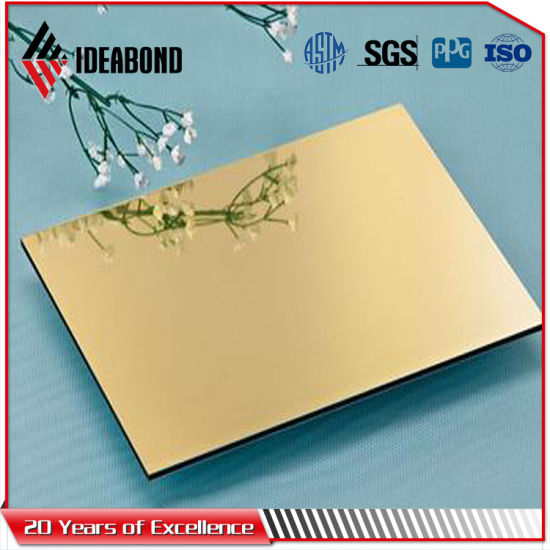 Ideabond Guangdong Factory Price Silver Mirror Finish Aluminum Composite Panel pictures & photos