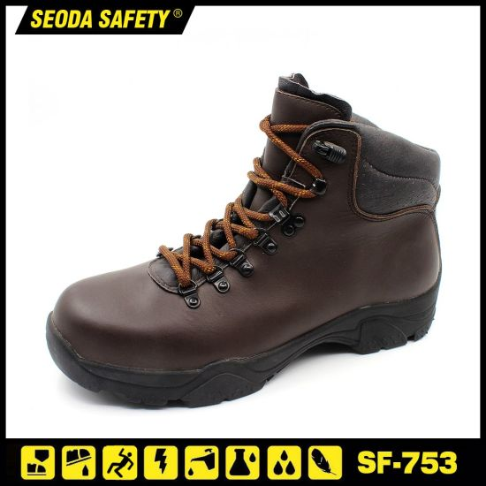 Full Grain Crazy Horse Leather Ce Safety Work Shoes
