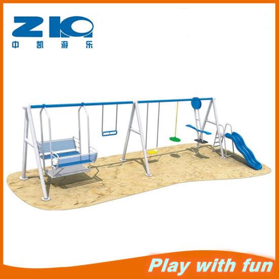 High Quality 2 Seat Kids Garden Metal Patio Outdoor Swing Amusement  Equipment, Double Seat Steel Seesaw And Swing Set