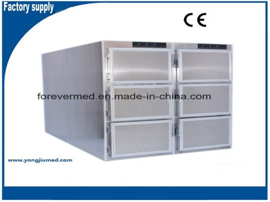 Yj-MCR6 Stainless Steel Mortuary Refrigerator with Six Body Chamber pictures & photos